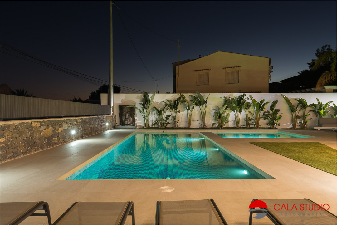 night real estate photography costa blanca